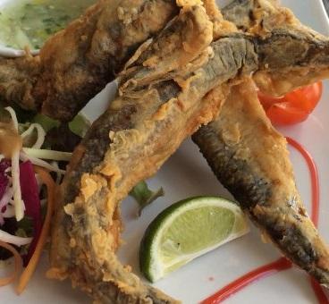 Balaou Martinique frit sec