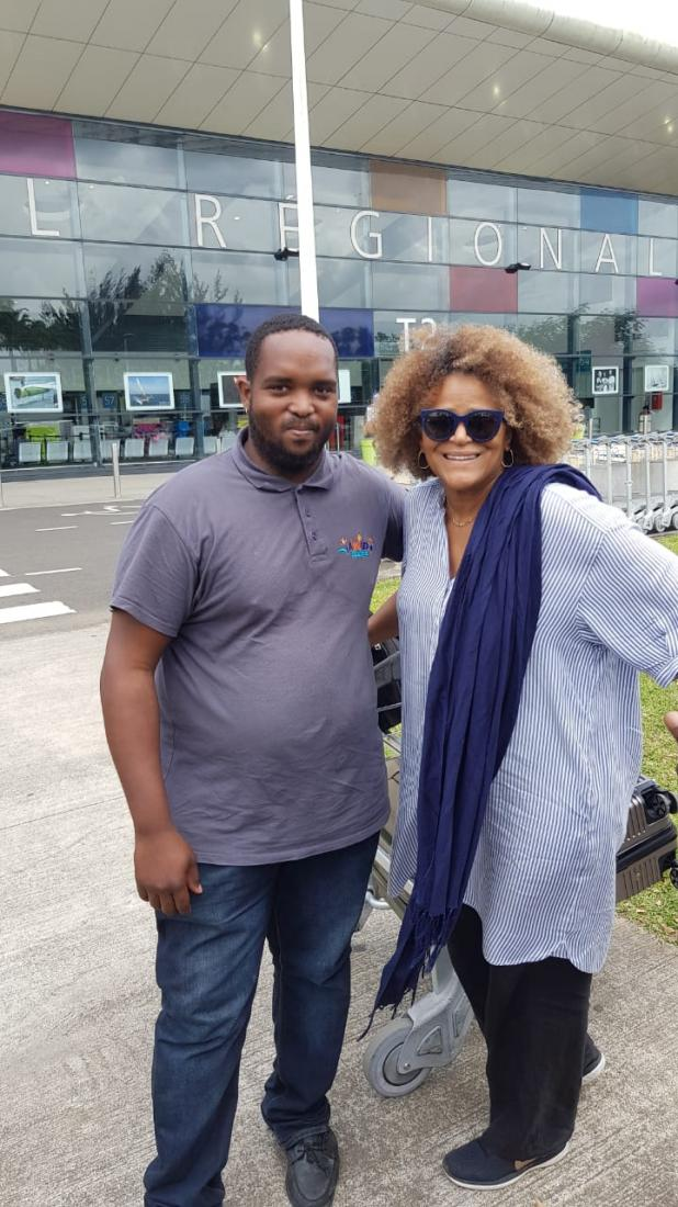 Jocelyne BEROARD avec Ralph Responsable de l'agence Guadeloupe