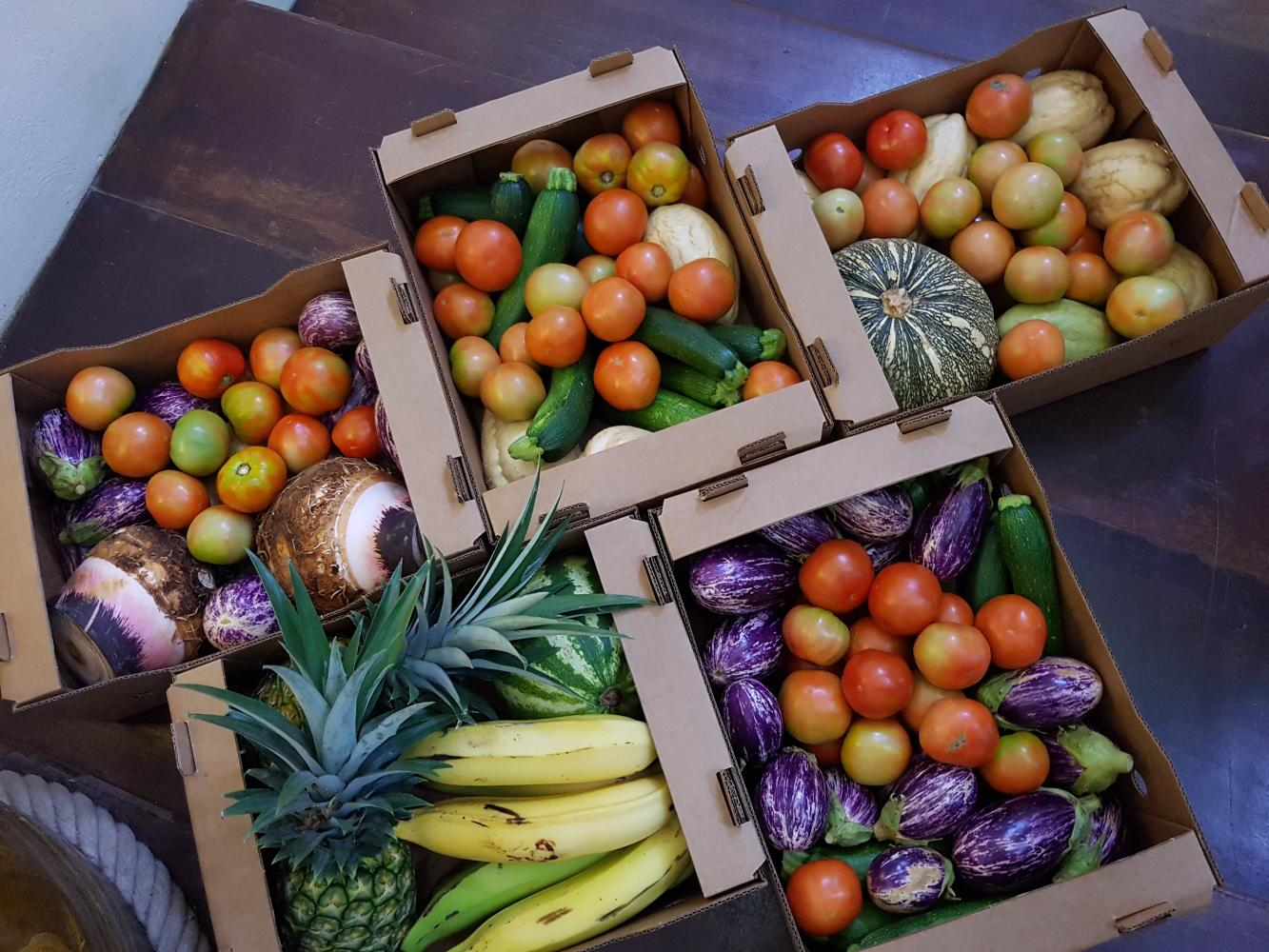 Panier legumes martinique - la box nature